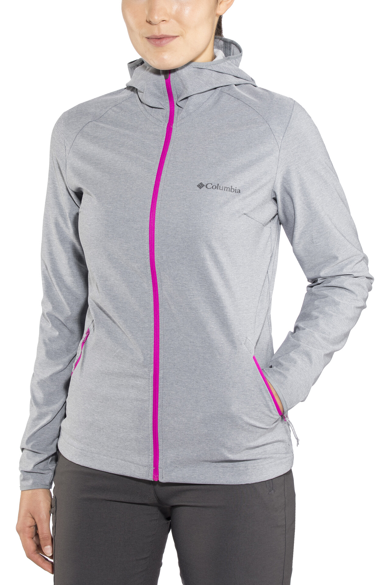 Columbia Heather Canyon Softshell Jas Dames, grey ash heather
